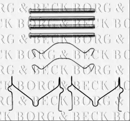 Borg & Beck BBK1486 - Piederumu komplekts, Disku bremžu uzlikas autodraugiem.lv
