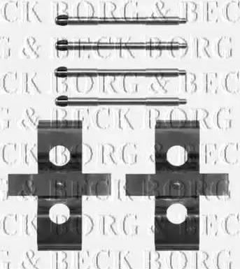 Borg & Beck BBK1431 - Piederumu komplekts, Disku bremžu uzlikas autodraugiem.lv