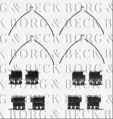 Borg & Beck BBK1425 - Piederumu komplekts, Disku bremžu uzlikas autodraugiem.lv