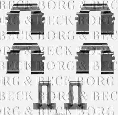 Borg & Beck BBK1476 - Piederumu komplekts, Disku bremžu uzlikas autodraugiem.lv
