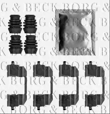Borg & Beck BBK1524 - Piederumu komplekts, Disku bremžu uzlikas autodraugiem.lv