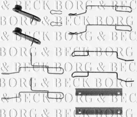 Borg & Beck BBK1020 - Piederumu komplekts, Disku bremžu uzlikas autodraugiem.lv