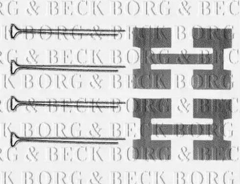 Borg & Beck BBK1134 - Piederumu komplekts, Disku bremžu uzlikas autodraugiem.lv