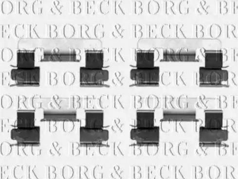Borg & Beck BBK1347 - Piederumu komplekts, Disku bremžu uzlikas autodraugiem.lv