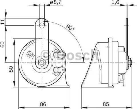 BOSCH 6033FB2012 - Skaņas signāls autodraugiem.lv