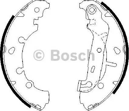 BOSCH 0 986 487 599 - Bremžu komplekts, trumuļa bremzes autodraugiem.lv