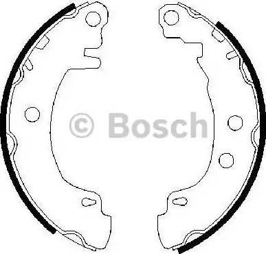 BOSCH 0 986 487 550 - Bremžu komplekts, trumuļa bremzes autodraugiem.lv