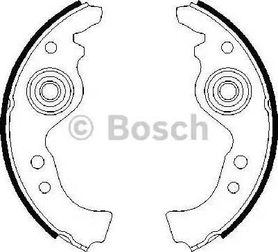 BOSCH 0 986 487 030 - Bremžu komplekts, trumuļa bremzes autodraugiem.lv