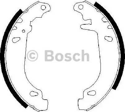 BOSCH 0986487346 - Bremžu komplekts, trumuļa bremzes autodraugiem.lv