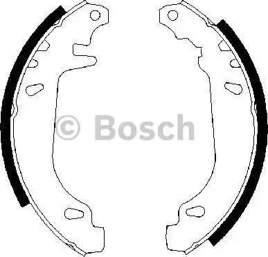 BOSCH 0 986 487 272 - Bremžu komplekts, trumuļa bremzes autodraugiem.lv