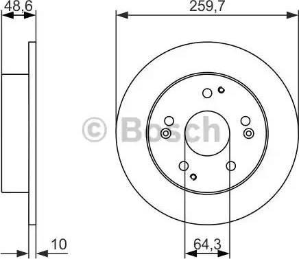 BOSCH 0 986 479 964 - Bremžu diski autodraugiem.lv