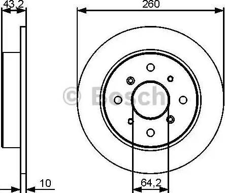 BOSCH 0 986 479 447 - Bremžu diski autodraugiem.lv