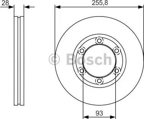BOSCH 0 986 479 R37 - Bremžu diski autodraugiem.lv