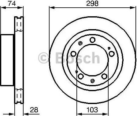 BOSCH 0 986 478 418 - Bremžu diski autodraugiem.lv
