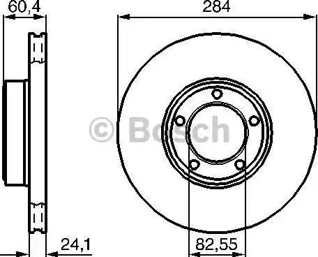BOSCH 0 986 478 686 - Bremžu diski autodraugiem.lv