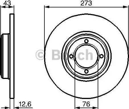 BOSCH 0 986 478 091 - Bremžu diski autodraugiem.lv