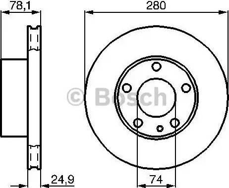 BOSCH 0 986 478 049 - Bremžu diski autodraugiem.lv