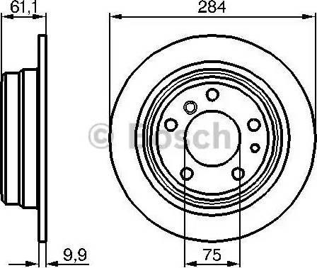BOSCH 0 986 478 044 - Bremžu diski autodraugiem.lv
