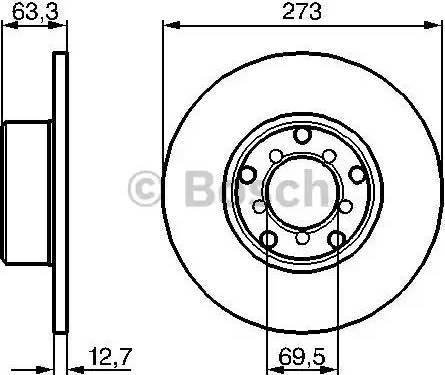 BOSCH 0 986 478 055 - Bremžu diski autodraugiem.lv