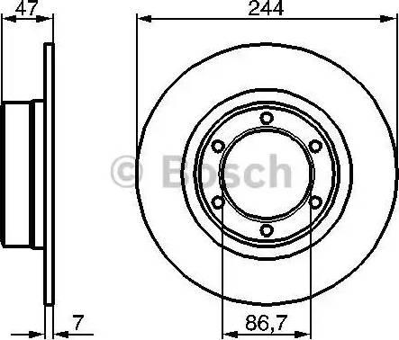 BOSCH 0 986 478 050 - Bremžu diski autodraugiem.lv