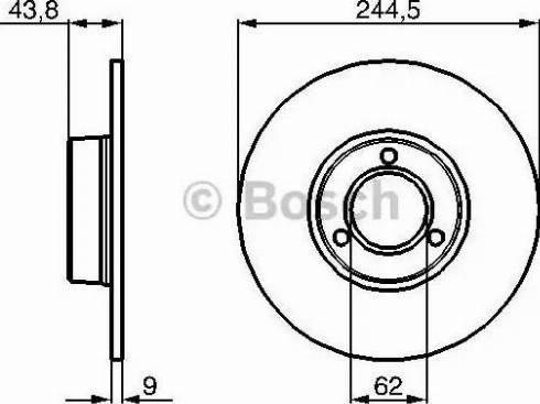 BOSCH 0 986 478 052 - Bremžu diski autodraugiem.lv