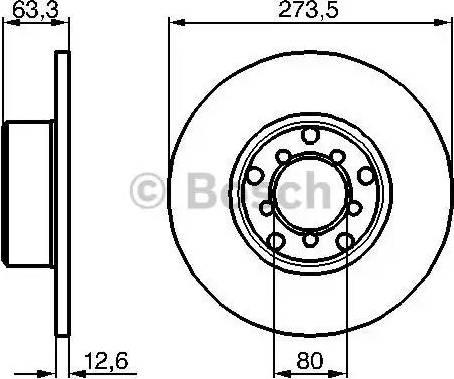 BOSCH 0 986 478 057 - Bremžu diski autodraugiem.lv