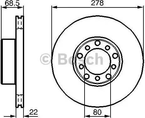 BOSCH 0 986 478 061 - Bremžu diski autodraugiem.lv