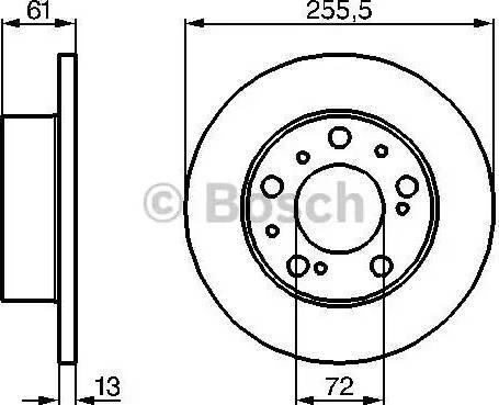 BOSCH 0 986 478 067 - Bremžu diski autodraugiem.lv