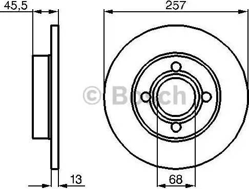 BOSCH 0 986 478 016 - Bremžu diski autodraugiem.lv
