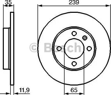 BOSCH 0 986 478 011 - Bremžu diski autodraugiem.lv