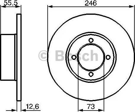 BOSCH 0 986 478 082 - Bremžu diski autodraugiem.lv