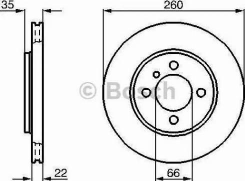BOSCH 0 986 478 036 - Bremžu diski autodraugiem.lv