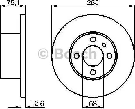 BOSCH 0 986 478 032 - Bremžu diski autodraugiem.lv