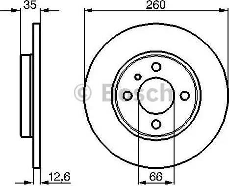 BOSCH 0 986 478 029 - Bremžu diski autodraugiem.lv