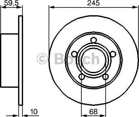 BOSCH 0 986 478 023 - Bremžu diski autodraugiem.lv
