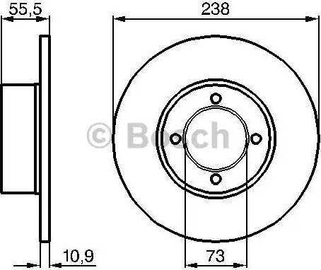 BOSCH 0 986 478 079 - Bremžu diski autodraugiem.lv