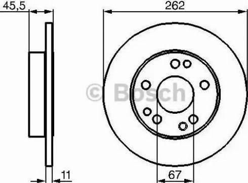 BOSCH 0 986 478 114 - Bremžu diski autodraugiem.lv
