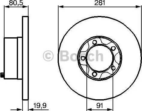 BOSCH 0 986 478 138 - Bremžu diski autodraugiem.lv