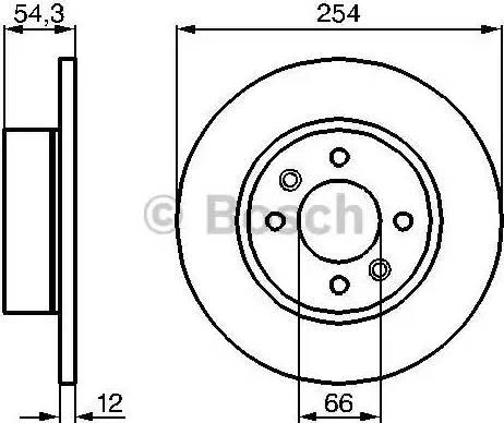 BOSCH 0 986 478 390 - Bremžu diski autodraugiem.lv