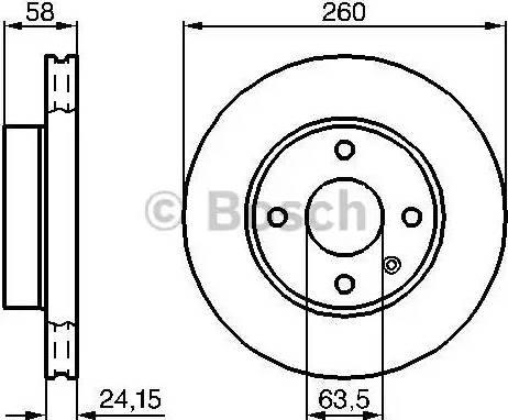 BOSCH 0 986 478 346 - Bremžu diski autodraugiem.lv