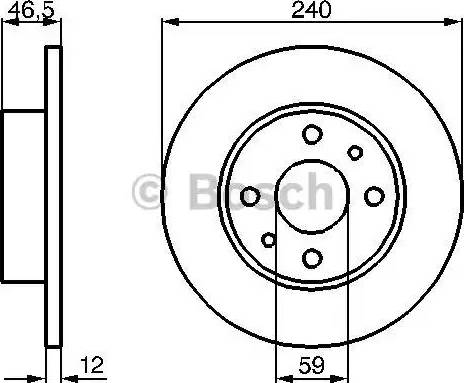 BOSCH 0 986 478 353 - Bremžu diski autodraugiem.lv