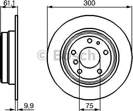 BOSCH 0 986 478 321 - Bremžu diski autodraugiem.lv