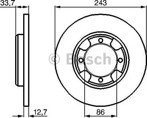 BOSCH 0 986 478 253 - Bremžu diski autodraugiem.lv