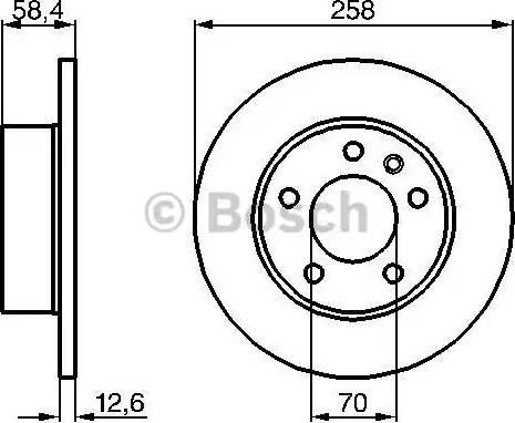 BOSCH 0 986 478 266 - Bremžu diski autodraugiem.lv