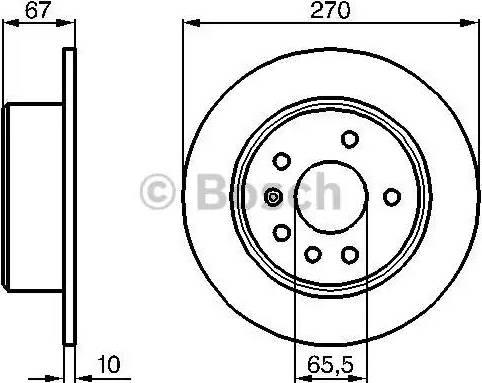 BOSCH 0 986 478 267 - Bremžu diski autodraugiem.lv