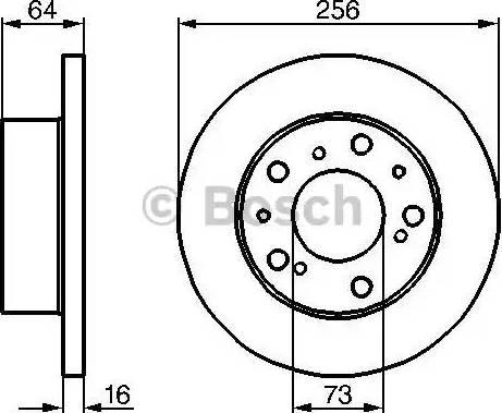 BOSCH 0 986 478 200 - Bremžu diski autodraugiem.lv