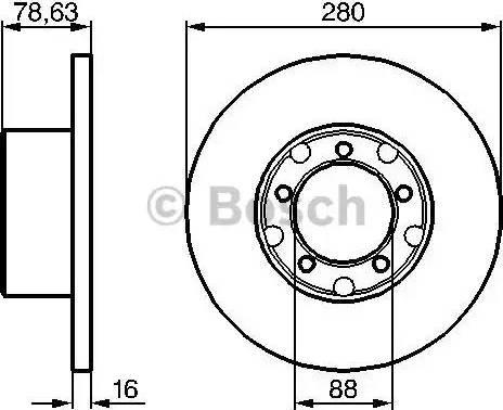 BOSCH 0 986 478 201 - Bremžu diski autodraugiem.lv