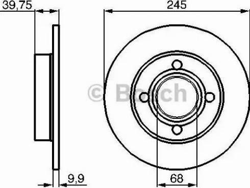 BOSCH 0 986 478 216 - Bremžu diski autodraugiem.lv