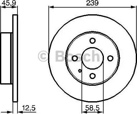 BOSCH 0 986 478 212 - Bremžu diski autodraugiem.lv