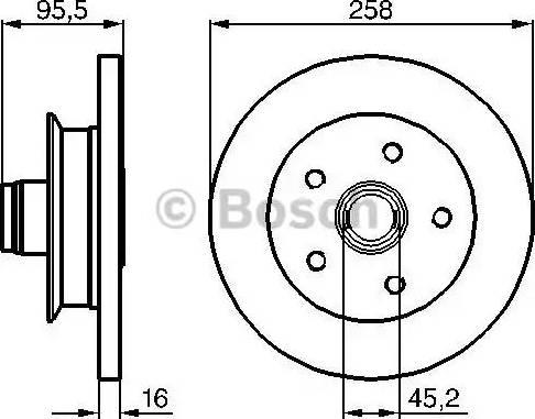 BOSCH 0 986 478 224 - Bremžu diski autodraugiem.lv